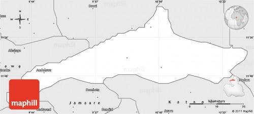 Map of study area, Gadau district, Itas Gadau Local Government Area of Bauchi state.